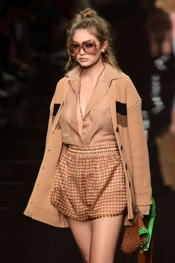 Gigi Hadid - Fendi Runway Show at 2019 Milan Fashion Week