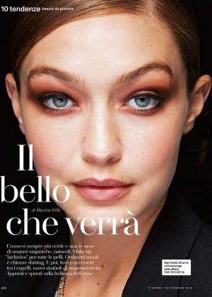 Gigi Hadid for Io Donna del Corriere della Sera (December 2018)