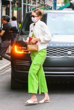 Gigi Hadid - gets a Covid vaccine at Walgreens in New York City