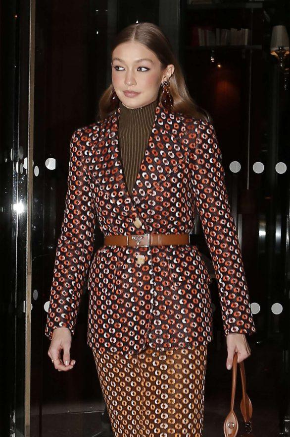 Gigi Hadid - Heading to a party for Prada in Paris