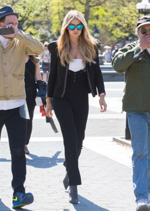 Gigi Hadid: Heading to a Photoshoot -11