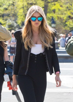 Gigi Hadid: Heading to a Photoshoot -13