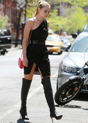 Gigi Hadid: Heading to a Photoshoot -17