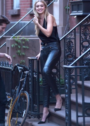 Gigi Hadid: Heading to a Photoshoot -41