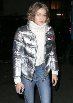 Gigi Hadid - Heading to a Tommy Hilfiger event in NYC