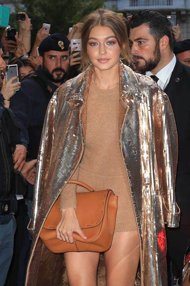 Gigi Hadid - Heading to the Max Mara Store in Milan