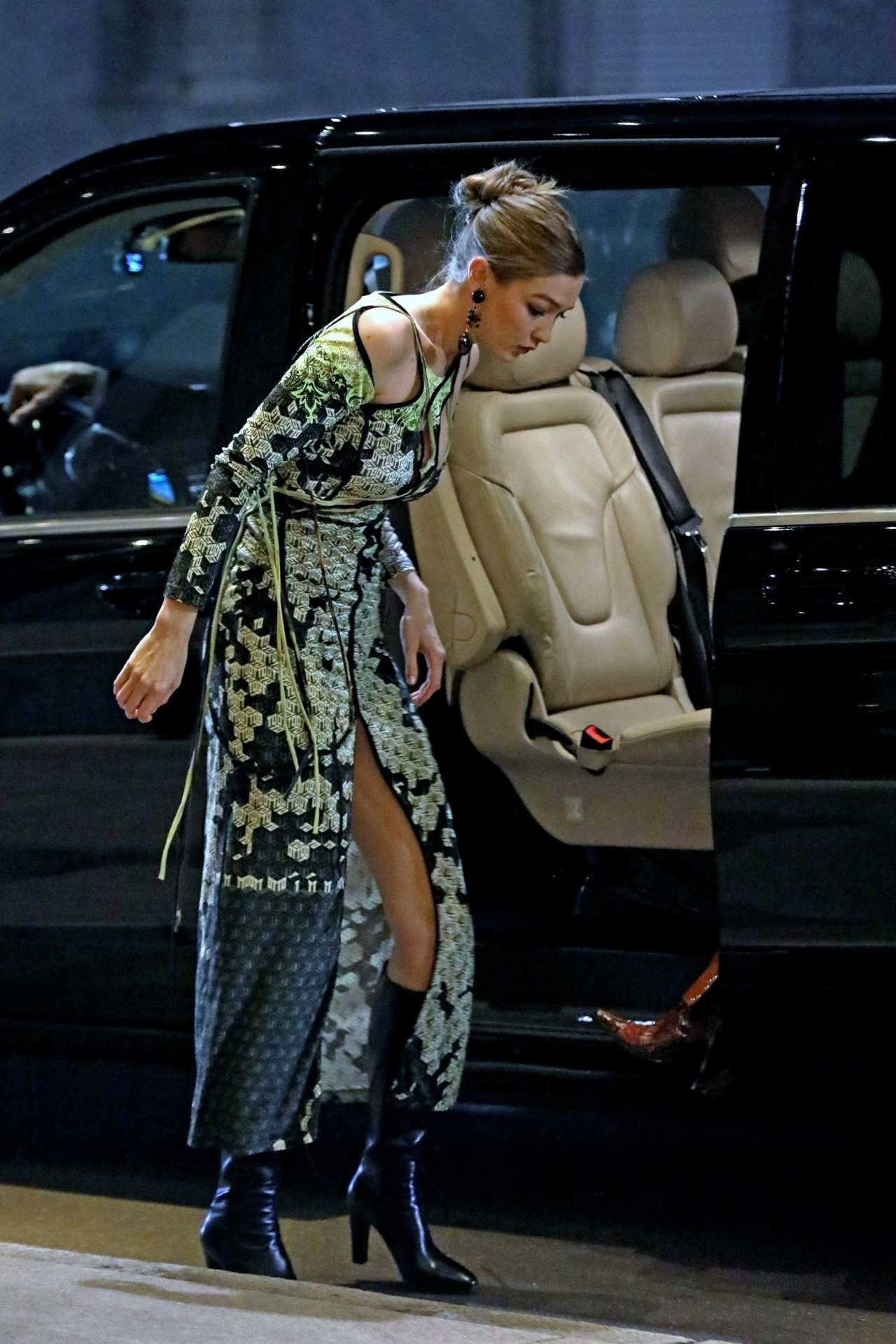 Gigi Hadid 2020 : Gigi Hadid – Heading to the Versace after party during 2020 Milan Fashion Week in Milan-02