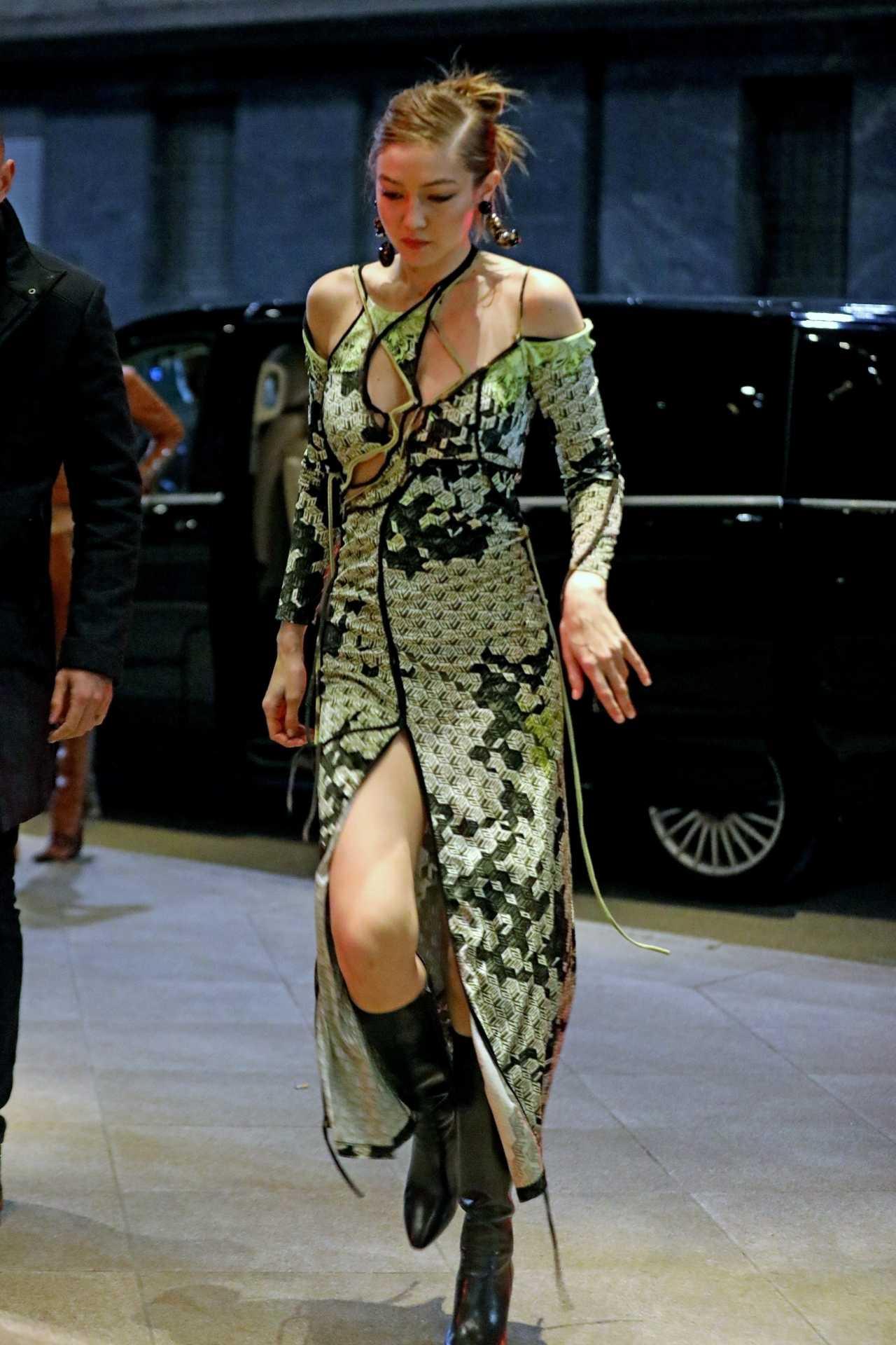 Gigi Hadid 2020 : Gigi Hadid – Heading to the Versace after party during 2020 Milan Fashion Week in Milan-03