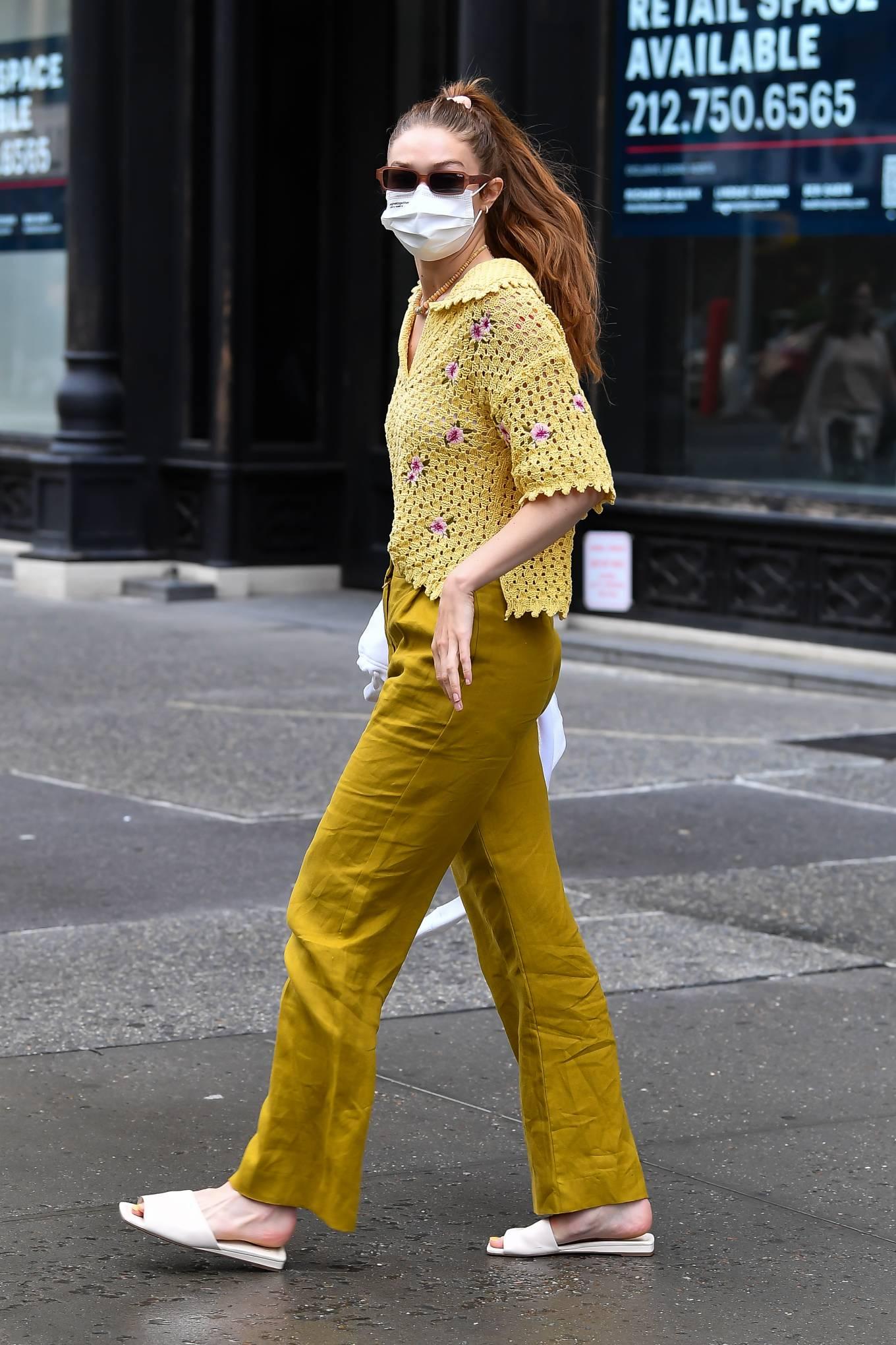 Gigi Hadid 2021 : Gigi Hadid – Heads to the salon in New York City-09