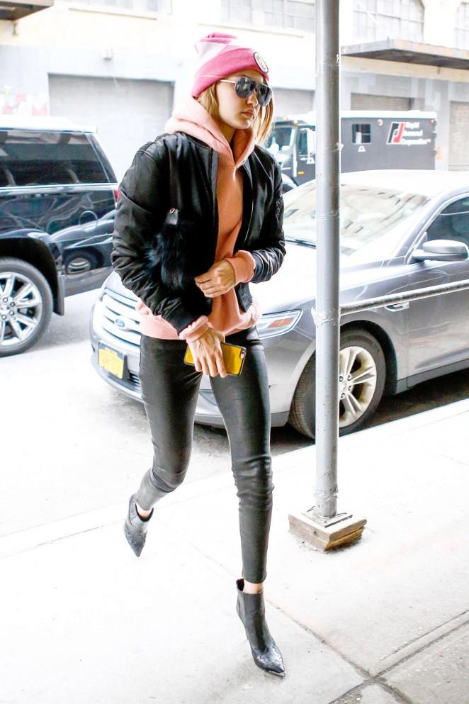 Gigi Hadid Heads to work in New York City -01