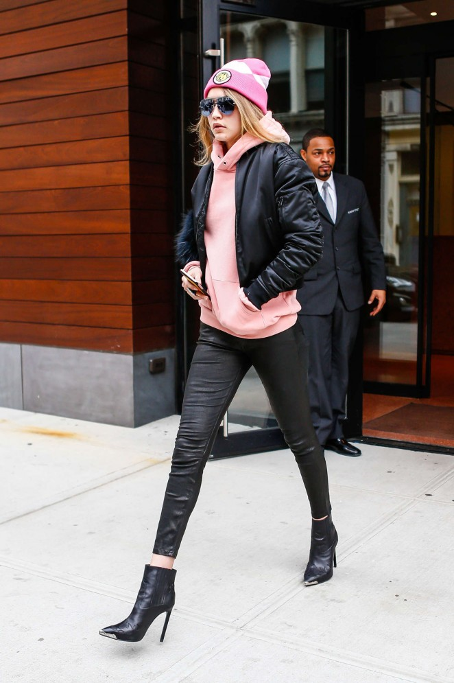 Gigi Hadid Heads to work in New York City -07