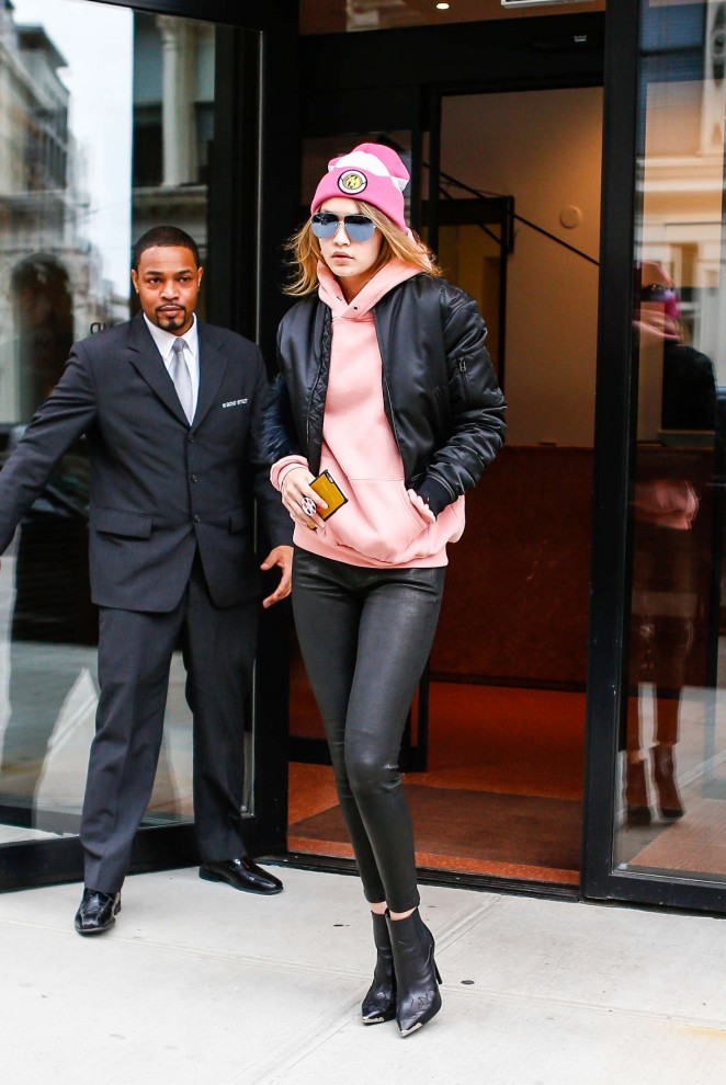 Gigi Hadid Heads to work in New York City -20
