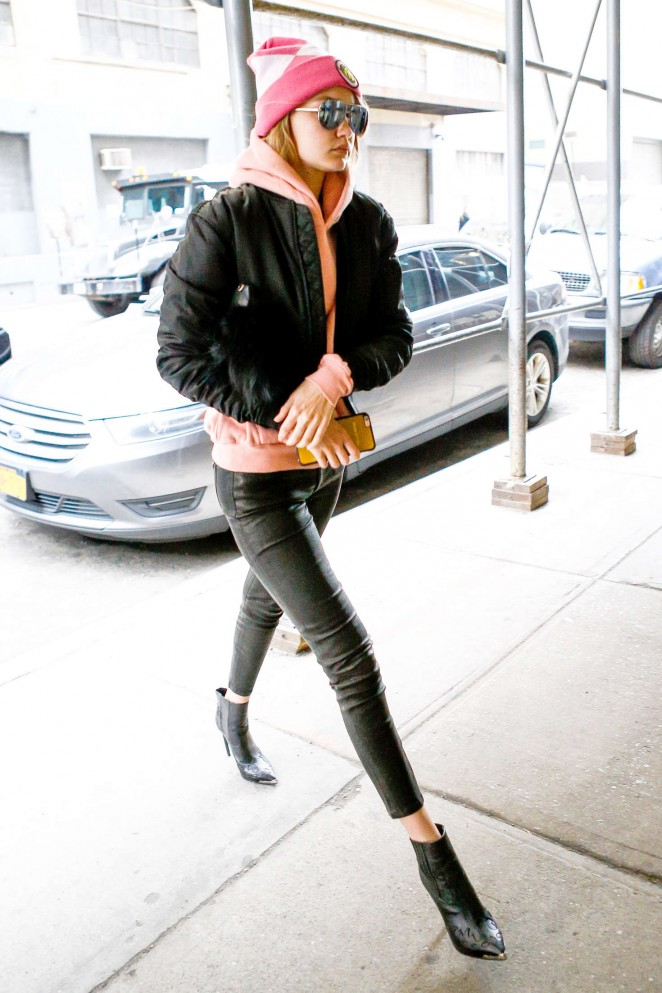 Gigi Hadid Heads to work in New York City -22