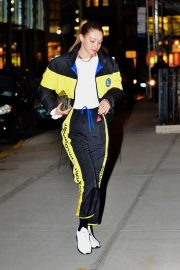 Gigi Hadid in a Polo Sport Track Suit - Arrives home in NYC