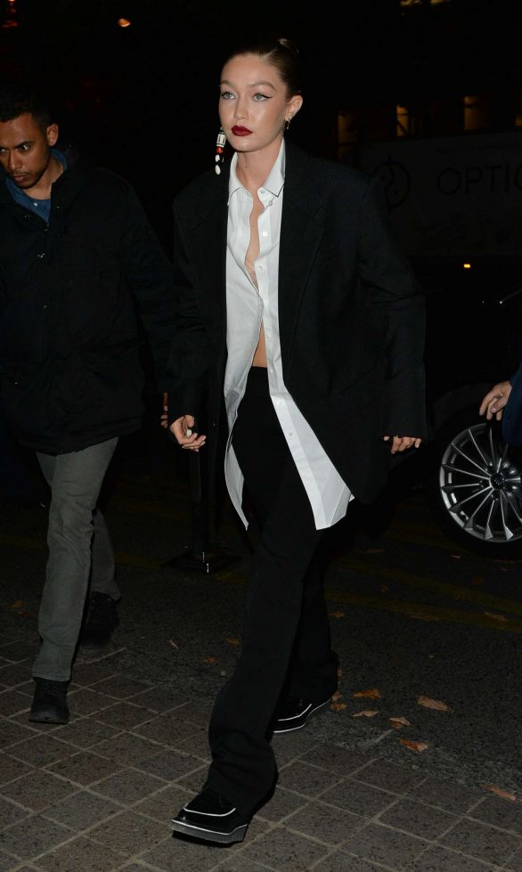 Gigi Hadid in Black - Out and about in Paris