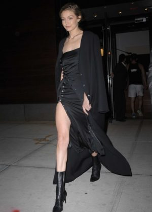 Gigi Hadid in Black out in NYC