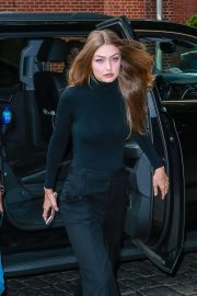 Gigi Hadid in Black Outfit - Out for an event in NYC