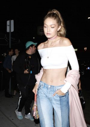 Gigi Hadid in Jeans at The Nice Guy in West Hollywood