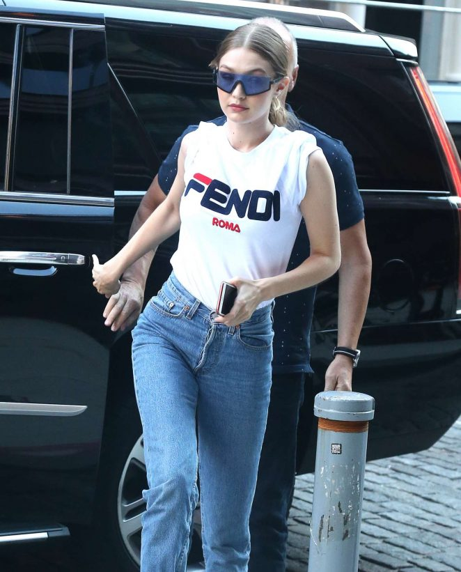 Gigi Hadid in Jeans - Out and about in New York City