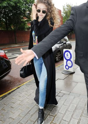 Gigi Hadid in Jeans Out in London