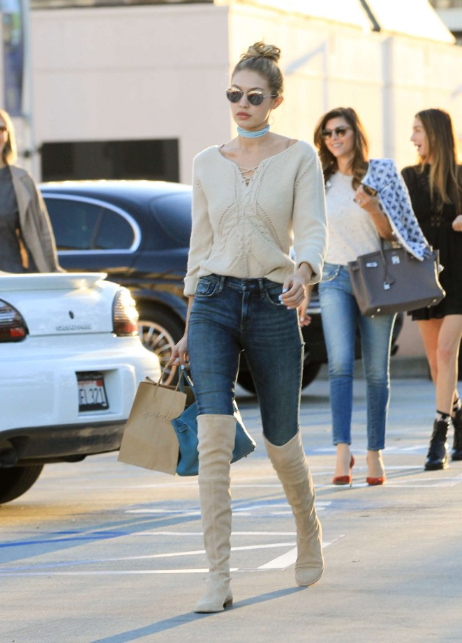 Gigi Hadid in Jeans out in Los Angeles