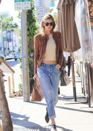 Gigi Hadid in Ripped Jeans out in LA