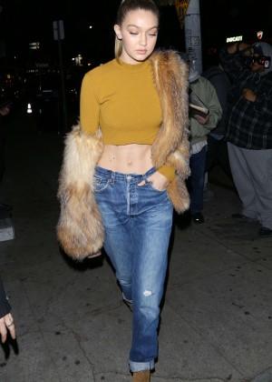 Gigi Hadid in Skinny Jeans at Nice Guy in LA