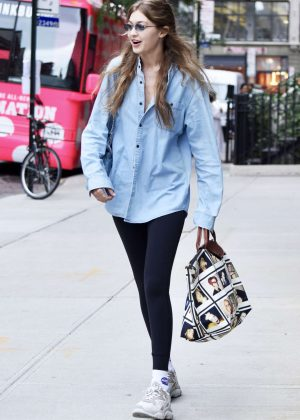 Gigi Hadid in Tights - Out in NYC