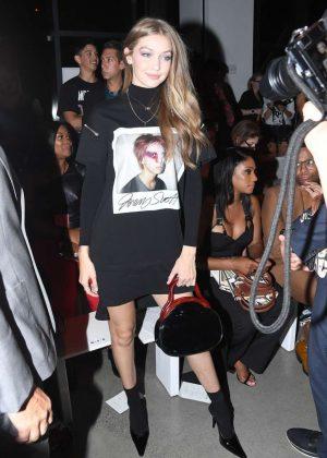 Gigi Hadid - Jeremy Scott Fashion Show in NYC