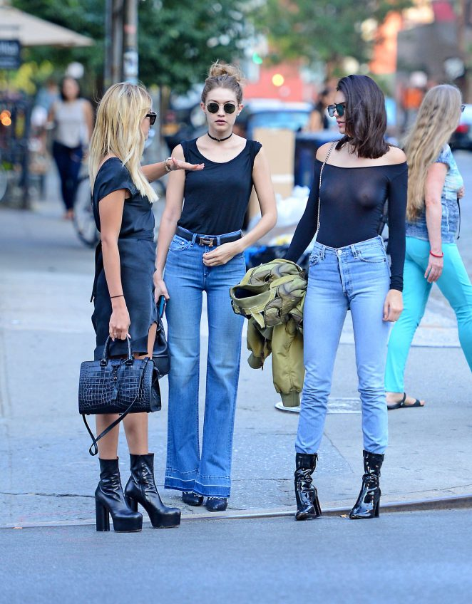 Gigi Hadid, Kendall Jenner and Hailey Baldwin out in NYC