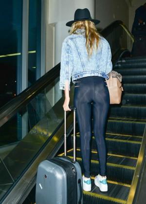 Gigi Hadid in Tights at LAX airport in LA