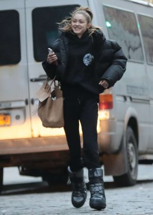 Gigi Hadid - Leaves a photoshoot in New York