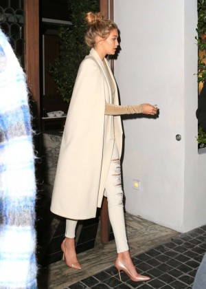 Gigi Hadid - Leaves Cecconi's Restaurant in West Hollywood