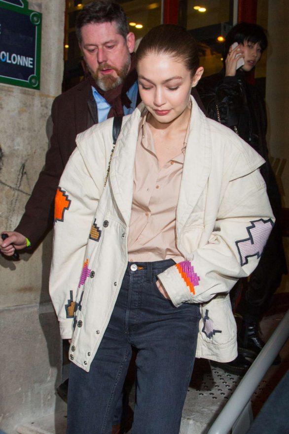 Gigi Hadid - Leaves Jean-Paul Gaultier Show in Paris