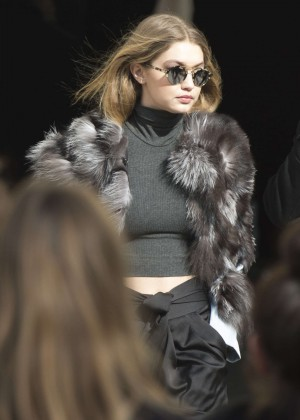 Gigi Hadid - Leaves the Chanel Fashion Show 2016 in Paris