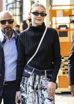 Gigi Hadid - Leaves the Max Mara Fashion Show in Milan