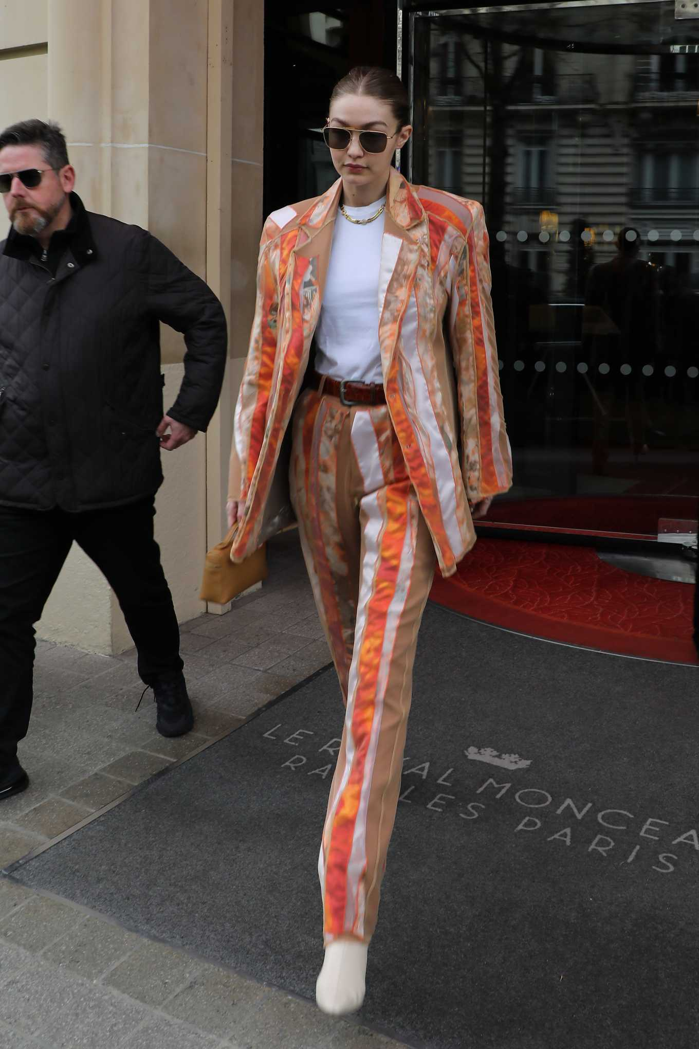 Gigi Hadid 2020 : Gigi Hadid – Leaves the Royal Monceau Hotel in Paris-01