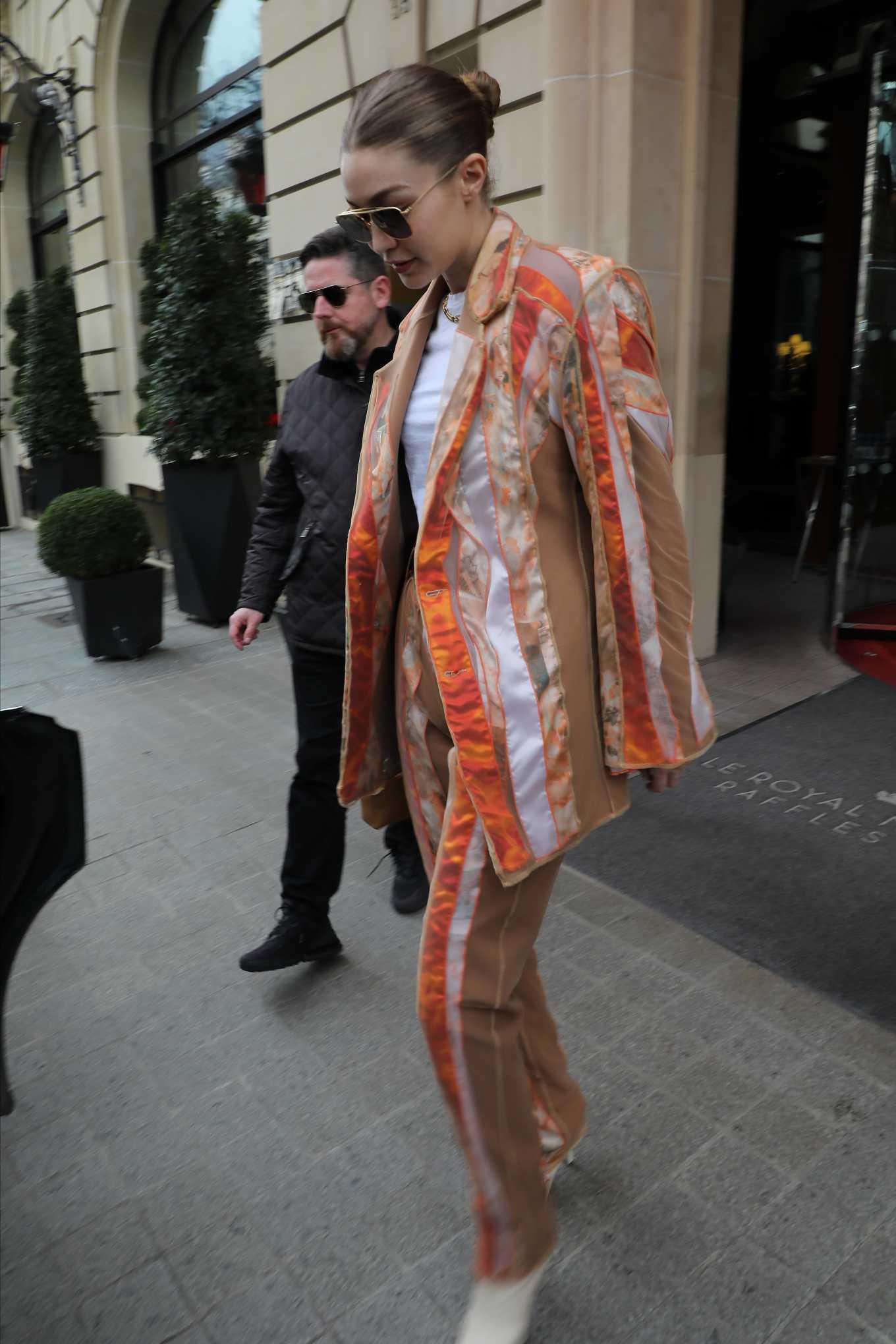 Gigi Hadid 2020 : Gigi Hadid – Leaves the Royal Monceau Hotel in Paris-02