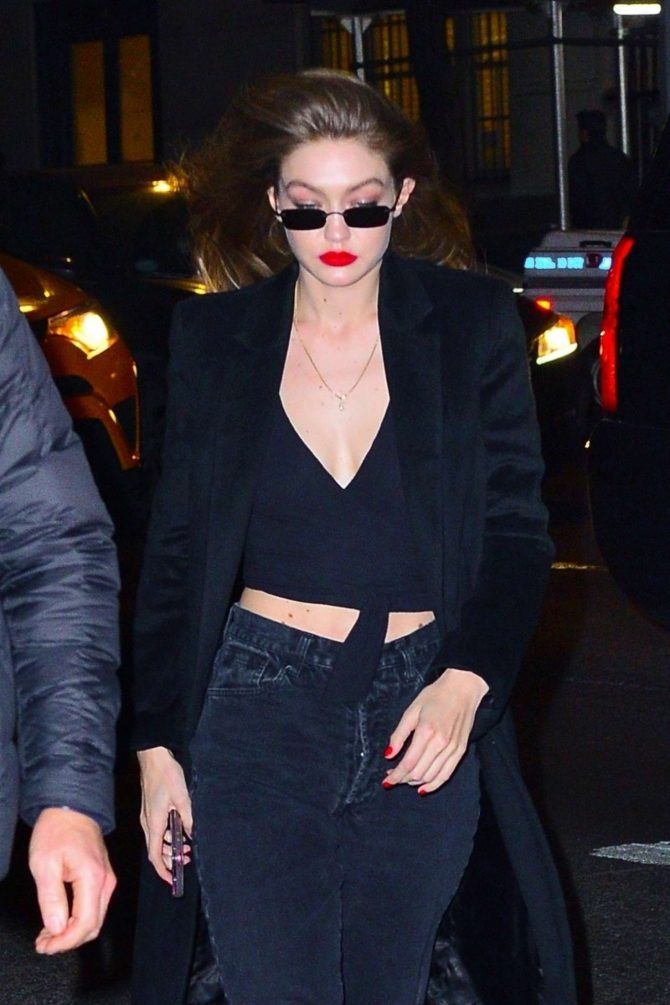 Gigi Hadid – Leaving a party in NYC