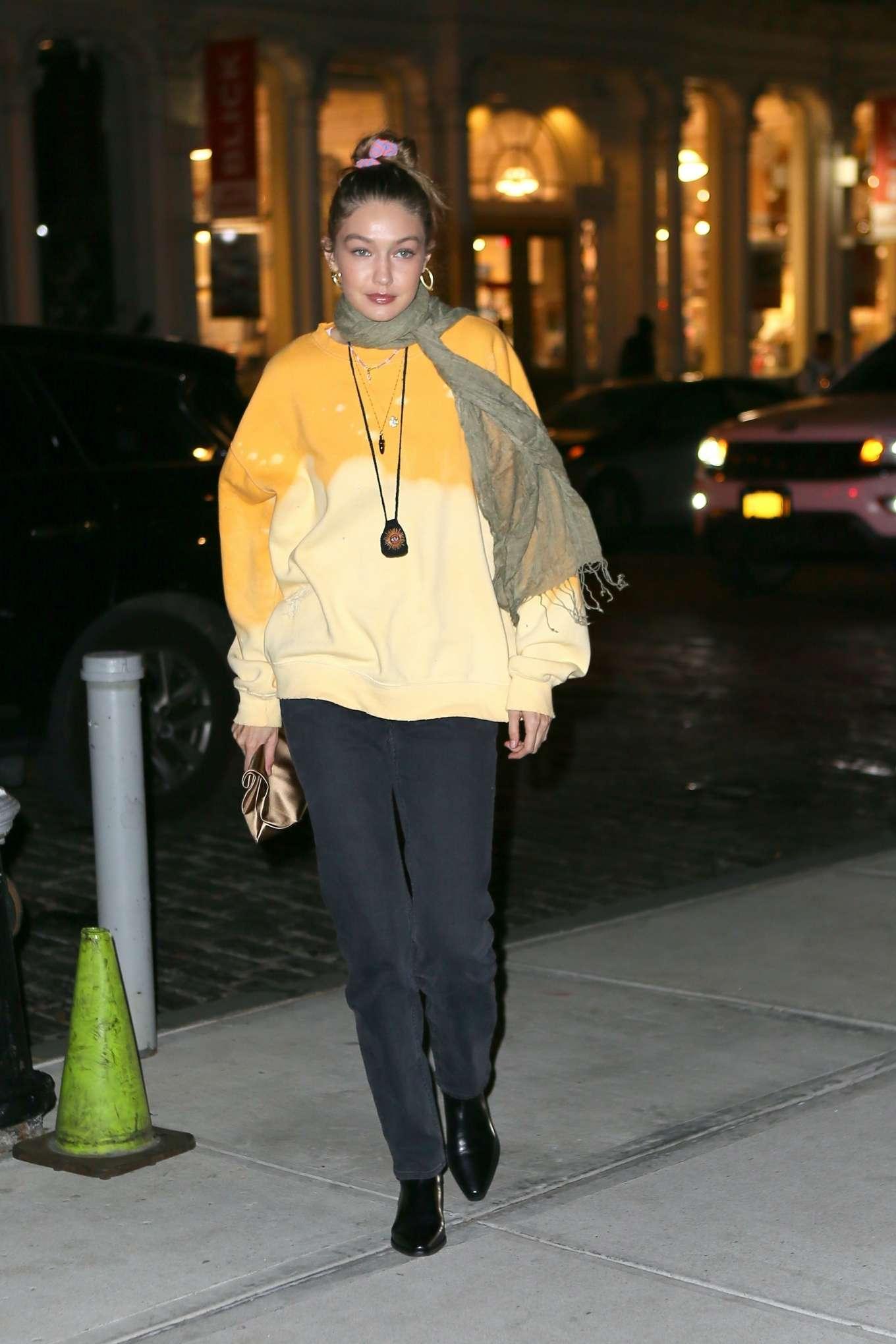 Gigi Hadid 2019 : Gigi Hadid – Leaving La Esquina Restaurant-05