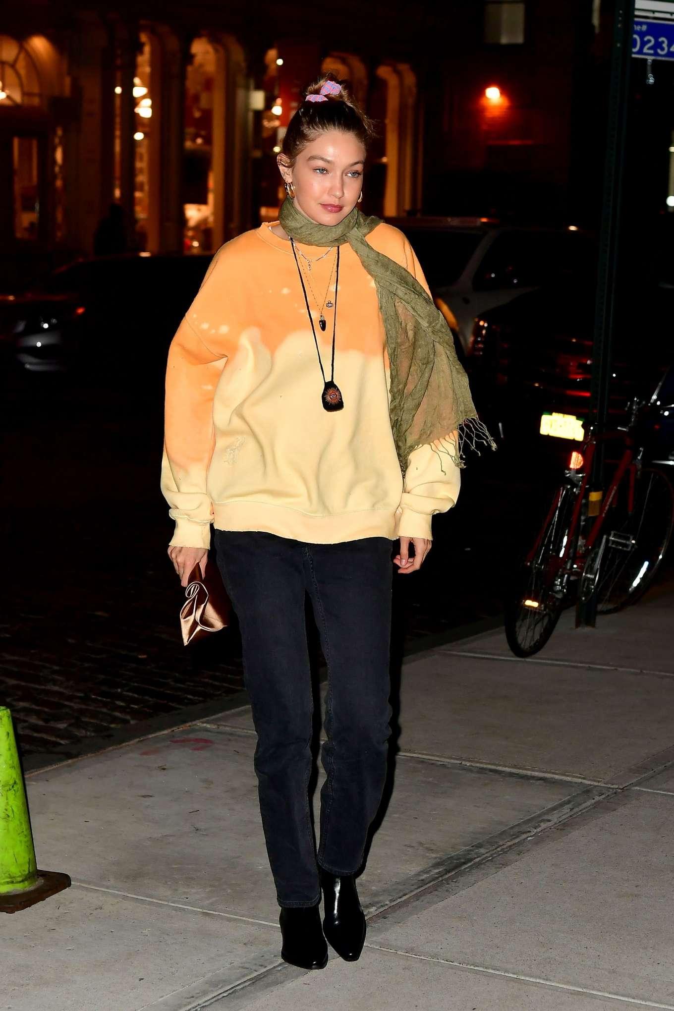 Gigi Hadid 2019 : Gigi Hadid – Leaving La Esquina Restaurant-10