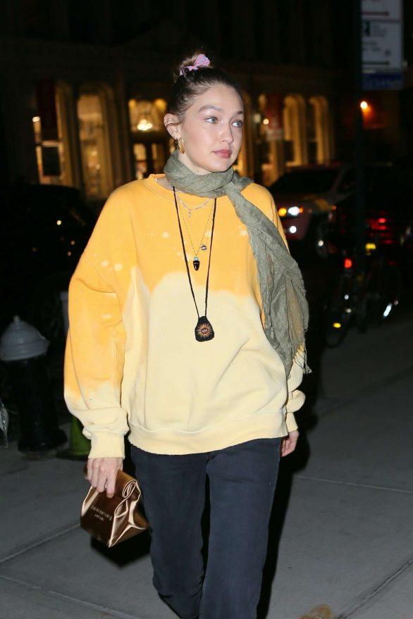 Gigi Hadid - Leaving La Esquina Restaurant in Brooklyn