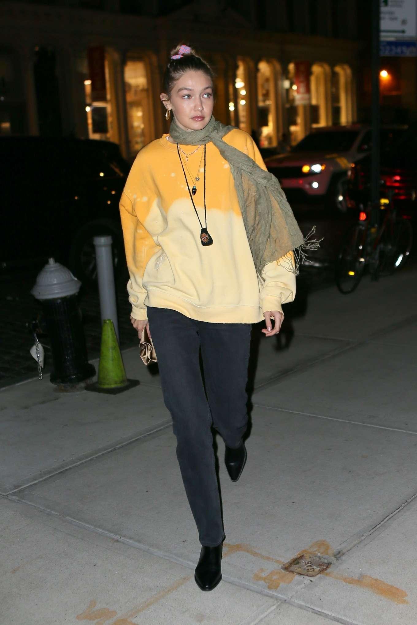Gigi Hadid 2019 : Gigi Hadid – Leaving La Esquina Restaurant-23