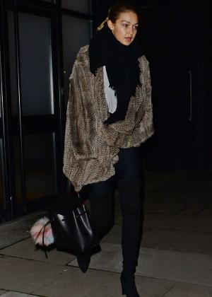 Gigi Hadid - Leaving Love Magazine Photoshoot in London