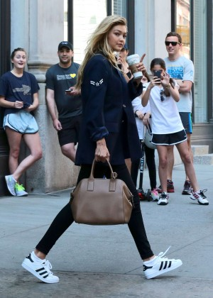 Gigi Hadid - Leaving Taylor Swift's Apartment in NYC