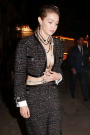 Gigi Hadid - Leaving the Chanel after show in Paris
