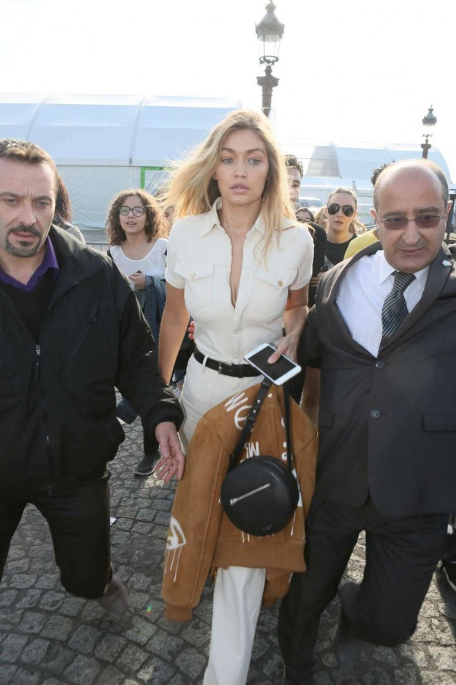 Gigi Hadid - Leaving The Elie Saab Show in Paris