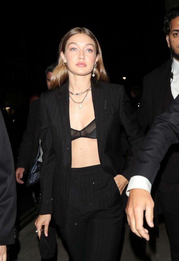 Gigi Hadid - Leaving the Hotel Cafe Royal in London