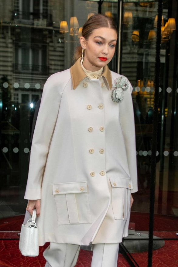 Gigi Hadid - Leaving the Royal Monceau hotel in Paris