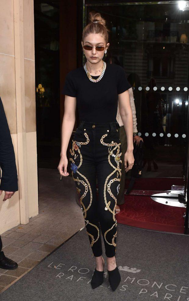 Gigi Hadid: Leaving The Royal Monceau Hotel-04
